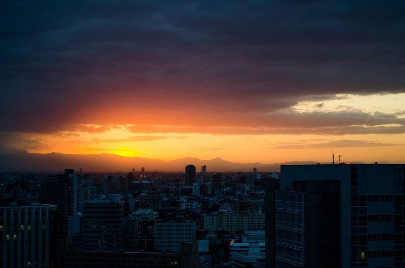 Sunset over Tokyo